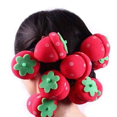 Ρολά μαλλιών φράουλες